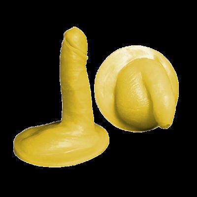 Kit de pénis de taille moyenne- Au repos et en érection- Non circoncis- Modèle 1- Silicone